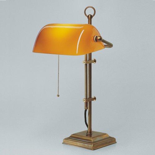 Bankerlampe Schreibtischlampe Berliner Messing W2-99co B