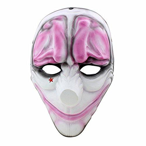 Esclusiva del Black Friday   CCCOWAY Halloween Cosplay maschera Payday 2 maschera (Houston)
