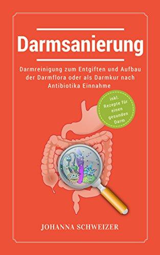 Darmsanierung: Darmreinigung zum Entgiften und Aufbau der Darmflora oder als Darmkur nach Antibiotika Einnahme: (inkl. Rezepte für einen gesunden Darm)