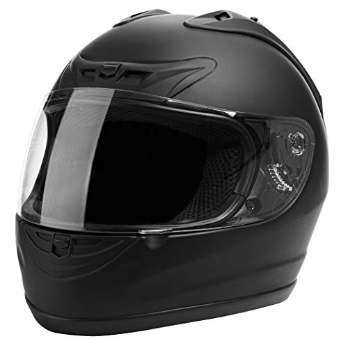 Cartman Motorcycle Modular Full Face Helmet, DOT Approved, Matte Black, Small