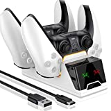 PS5 Controller Charger Station with Typer-C Fast Charging Dock, dual sense charger ps5 with Safe Protection Chip and LED Charging Indicator