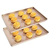 Sheet Pan,Cookie Sheet,Hotel Pan,Heavy Duty Stainless Steel Baking Pans,Toaster Oven Pan,Jelly...