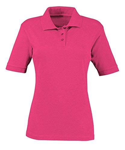 Alexandra STC-NF231BP-L Poloshirt voor dames, effen katoen, 65% polyester, 35% katoen, maat groot, helder roze