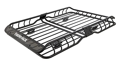 Rhino Rack Roof Cargo Basket with Mounting Bracket for Roof Racks, Easy Use & Fitment, Heavy Duty, 2...