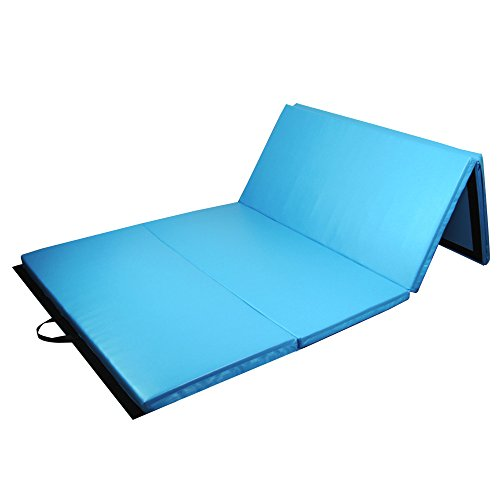 PRISP Fitnessmatte klappbar, 300cm rutschfeste Turnmatte und Gymnastikmatte für Zuhause, große 4-Fach Faltbare Sportmatte, extra weiche tragbare Trainingsmatte; 300 cm lang * 120 cm * 5 cm