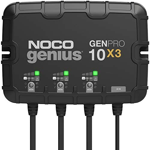 NOCO Genius GENPRO10X3 3 Bank 30 Amp 10 Amp Per Bank Fully Automatic Smart Marine Charger 12V product image