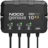 NOCO Genius GENPRO10X3, 3-Bank, 30-Amp (10-Amp Per Bank) Fully-Automatic Smart Marine Charger, 12V Onboard Battery Charger, Battery Maintainer and Battery Desulfator with Temperature Compensation