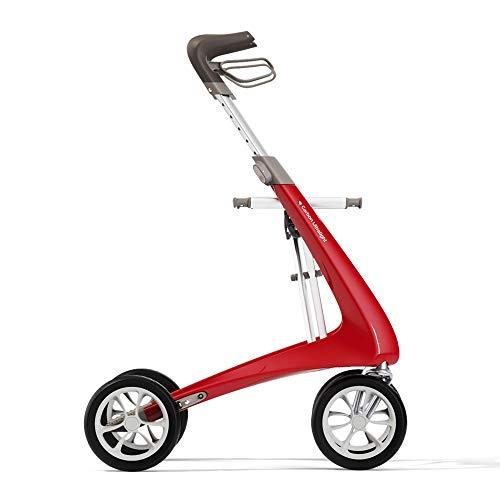 byACRE Déambulateur ultra léger en carbone   Seulement 4,8 kg   Rouge Fraise - Taille Standard