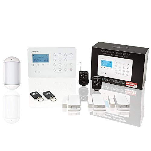 Safe2Home® Funk Alarmanlagen Set SP110 mit Tierimmun Bewegungsmelder und Sabotageschutz GSM Alarmsystem SMS Alarmierung - Alarmanlagen fürs Haus Büro