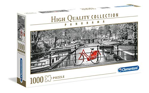 Clementoni Collection Panorama Puzzle Amsterdam Bicycle, 1000 Pezzi, Colore Neutro, 39440