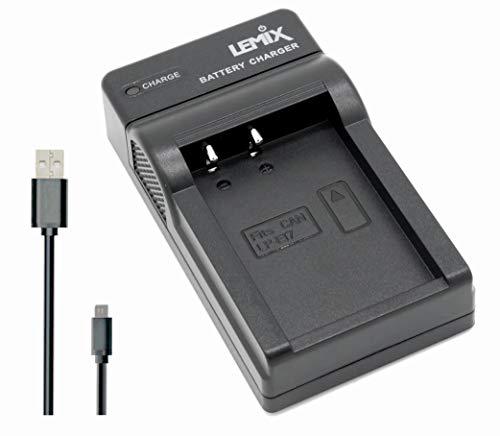 Lemix (LPE17) Caricatore USB Ultra Sottile slim per batterie Canon LP-E17 e per fotocamere CANON delle serie EOS, EOS Rebel & Kiss (modelli elencati q