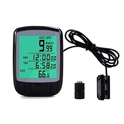 DKBE Odómetro de Bicicleta con Cable, cuentakilómetros Digital Grande para computadora de...