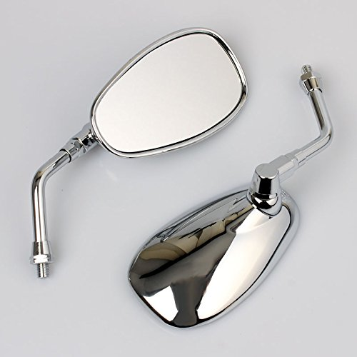 2x Specchio retrovisori compatibile per Yamaha XVS 650 1100 Dragstar XVZ 1300 XV 1600 1700