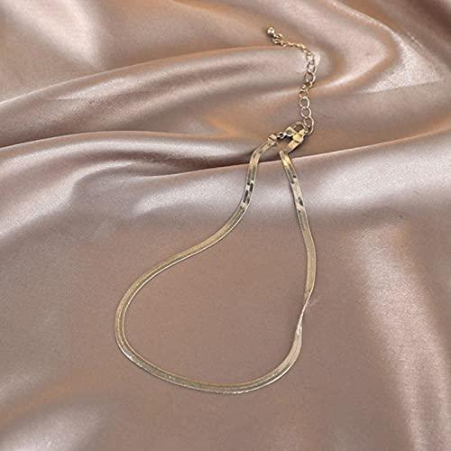 Collar de Gargantilla de Serpiente Simple Coreano para Mujer, Collar de clavícula Corta con Personalidad, Fiesta de Amigos, joyería Femenina