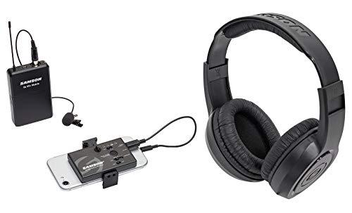 Samson Go Mic Mobile Digital Lavalier Wireless Sysytem Lav Mic+SR350 Headphones