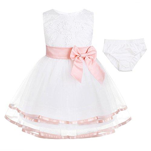 iiniim Robe pour Petites filles Perle Rose 0-3 mois