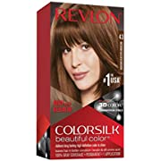 Revlon Colorsilk Beautiful Color, Permanent Hair Dye with Keratin, 100% Gray Coverage, Ammonia Free, 43 Medium Golden Brown
