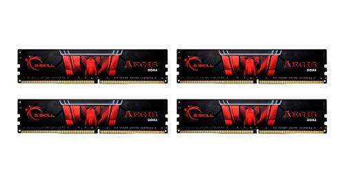 G.Skill F4-3200C16Q-64GIS Aegis - Memoria RAM DDR4 (64 GB, 3200 CL16, 4 módulos de 16 GB)