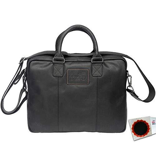 New Looxs Radtasche Santos Leather 13,5L Haken 40 x 31 x 11cm schwarz Fahrrad