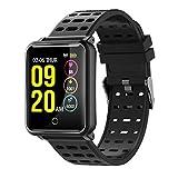 Tagobee TB06 IP68 a prueba de agua Smart Watch HD Touch Screen fitness tracker soporte de presión arterial frecuencia cardíaca Sleep Monitoring contador de pasos compatible con Android y iOS (Negro 2)