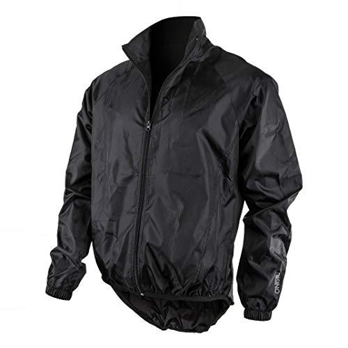 O'NEAL | Mountainbike-Jacke | MTB Mountainbike DH Downhill FR Freeride | Wasserdicht, atmungsaktiv, Windbreaker- Jacke | Breeze Rain Jacket | Erwachsene | Schwarz | Größe S