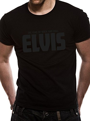 Elvis - The King of Rock and ROLL - Black on Black ! T-Shirt schwarz GR.L