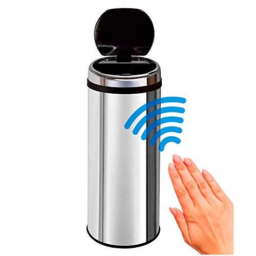 50L. Papelera con Sensor, Cubo de Basura con Sensor, Cubo de Cocina automático, Cubo automático