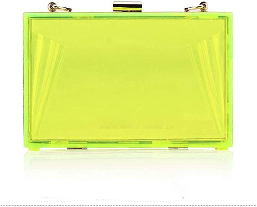 Summer Fashion Transparent Plastic Evening Bag Clear Evening Handbag Acrylic Metal Frame Party Box Clutch Messenger