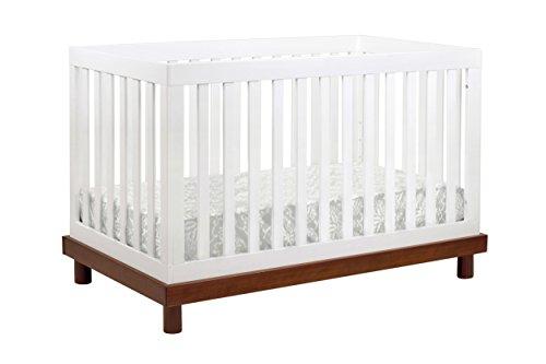 Babymod Olivia 3 in 1 Convertible Crib, Amber/White