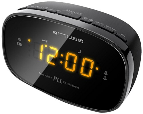 Muse M-150-CR Uhren-Radio (FM-PLL, LED-Display,) schwarz