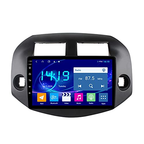 Gndy Coche Navegación System Android 9.1 para Toyota Rav4 2007-2014 Cuatro Nucleos 9' HD Pantalla Táctil In Dash Car con GPS Sat Nav USB FM 4.0 Bluetooth WiFi USB