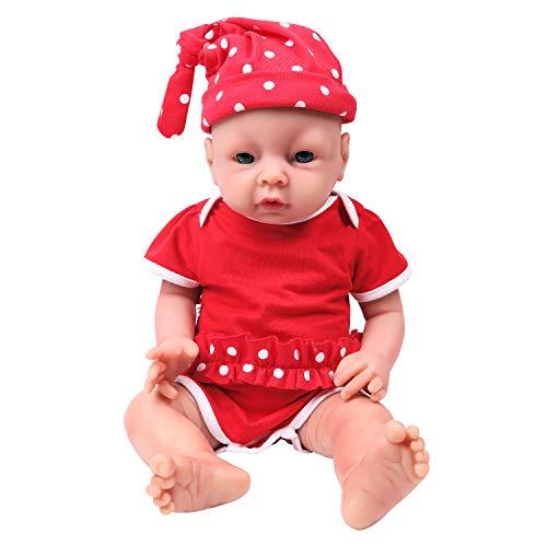 IVITA Wiedergeborenes Baby Doll realistische Neugeborenes Baby Doll lebendige Baby Doll handgemachte lebensechte Blaue Augen weiche lebendige Baby Doll Silikon(WG1506-51cm-3269g-Mädchen)