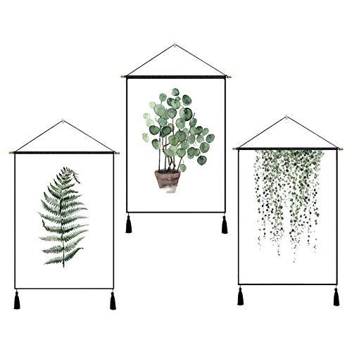 Nordic Farn dekorative hängen Tapisserie Baumwolle und leinen malerei Hintergrund Tuch wandbehang J...