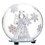 Jollylife - Adorno de vidrio LED que cambia de color con forma de globo de nieve