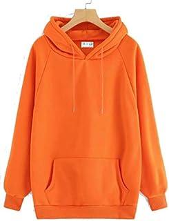 The SV Style Unisex Plain NEON Orange Hoodie/Graphic Printed Hoodie/Hoodie for Men & Women/Warm Hoodie/Unisex Hoodie