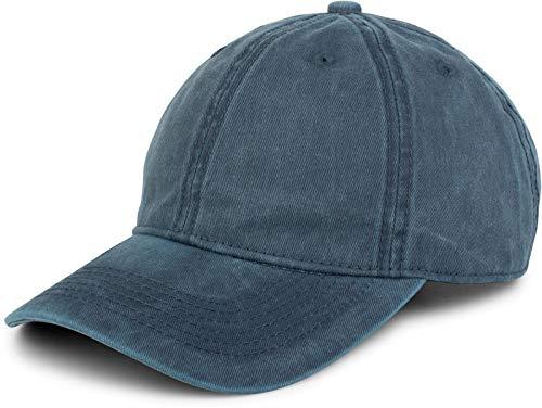 styleBREAKER Gorra Vintage de 6 Paneles en Apariencia usada y desgastada, Gorra de béisbol, Ajustable 04023054, Color:Azul Jean