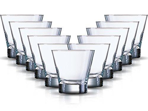 Whiskyglazenset Sheti 6-delig | Inhoud: 320 ml | Whisky Tumbler Een glas voor alle dranken - de perfecte allrounder | Longdrink sap-water-whiskyglazen