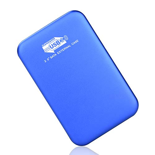 Externe Festplatte, Externe Festplatte 1tb USB3.0 Festplatte Extern für Mac, MacBook, PC, Xbox One, Xbox 360, Desktop, Chromebook, Laptop (1tb, Blau)