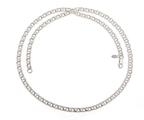5mm Garibaldi Silberkette - 925 Sterling Silber, Länge 40-100cm von silberketten-store.de
