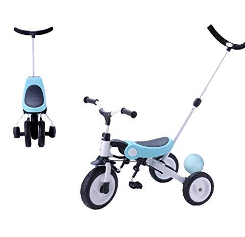 NUBAO Triciclo Evolutivo Toral Triciclo para niños, 3 en 1 Aprende a Pedal Trike BICICLETE BICICLETE 1-3-6 AÑOS DE AÑOS BEBY FRANIFACT Cochecito de bebé Plegable Ligero (Color : Blue)