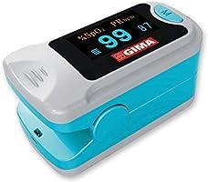 GIMA SATURIMETRO OXY-3 | Pulsossimetro da dito portatile professionale, misura il livello di ossigeno nel sangue e il...