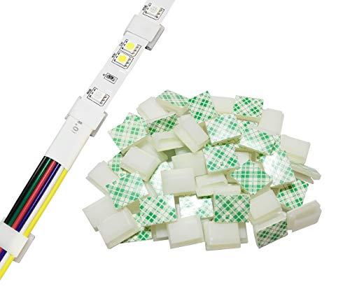 LED-Lichtstreifenhalterung, selbstklebend, 100 Stück, 12 V, 24 V, 3528, wasserdicht, weiß, 13*16mm