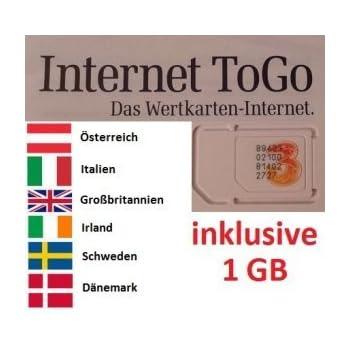 prepaid karte internet italien travSIM Italien Prepaid Daten SIM Karte + 2GB für 30: Amazon.de