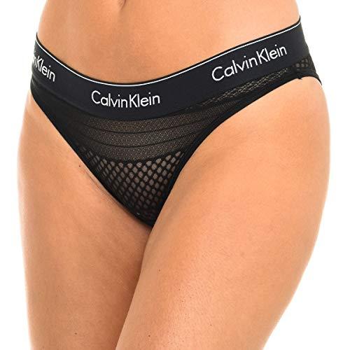 Calvin Klein Bikini Estilo Ropa Interior, Black, Medium para Mujer