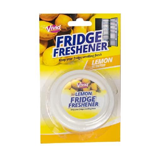 The Home Fusion Company Ambientador de limón para nevera, desodorante para eliminar olores y limpiar los olores