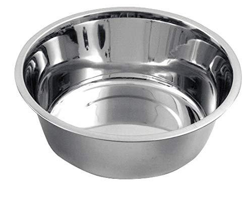 Kerbl Fressnapf aus Edelstahl für Hund u. Katze, 2800 ml