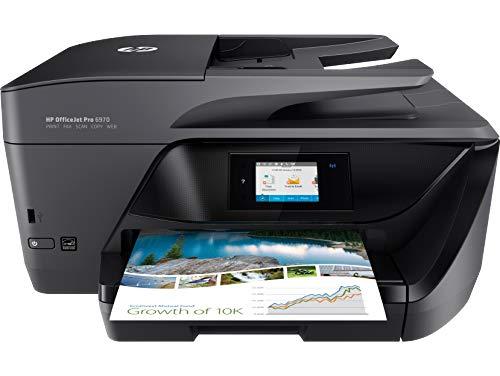HP OfficeJet Pro 6970 (T0F33A) Stampante Multifunzione, Stampa, Scansiona, Fotocopia, Fax, Wi-Fi, Ethernet, USB, A4, HP Smart, 6 mesi di Instant Ink inclusi nel Prezzo, Nero