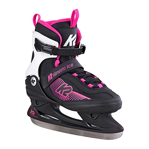 K2 Skates Damen Schlittschuhe Kinetic Ice W — Black - Blue — EU: 38 (UK: 5 / US: 7.5) — 25E0240