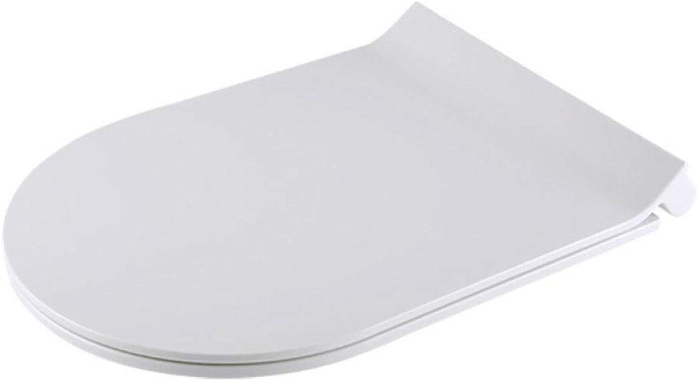 GLJJQMY Ultradünne WC-Abdeckung in U-Form mit geschlossenem, antibakteriellem, extrem belastbarem Toilettensitz WC-Abdeckung