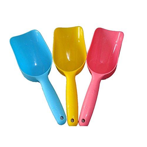 tykusm Creative niños playa juguetes playa cuchara juego de diseño de pala de playa arena herramientas harina scoop-color al azar